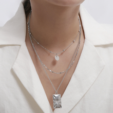 Load image into Gallery viewer, Triple Layer Necklace in Silver