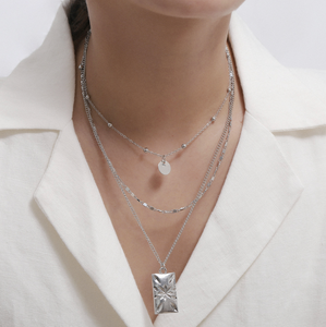 Triple Layer Necklace in Silver