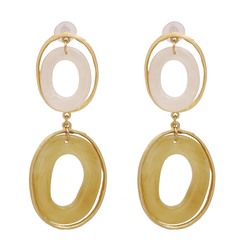 Exaggerated Oval Statement Earrings
