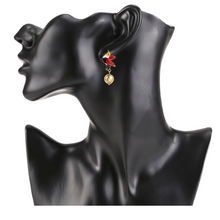 Load image into Gallery viewer, Bird Drop Earrings