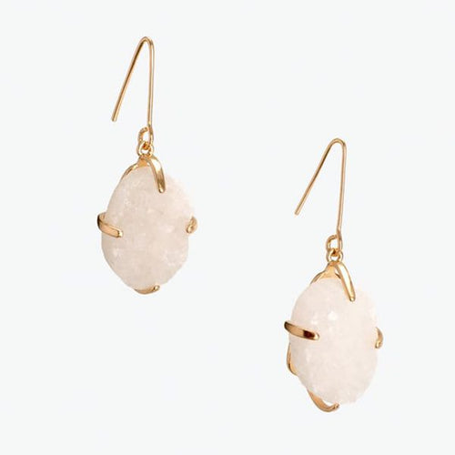 Azeztulite Crystal Gemstone Earrings Drop Earrings