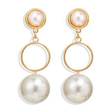 Load image into Gallery viewer, Ball Pearl Drop Earrings