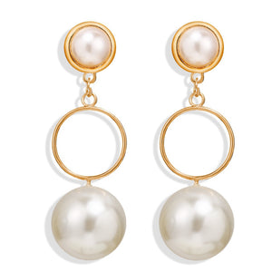 Ball Pearl Drop Earrings