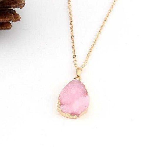 Stone Necklace in Pink