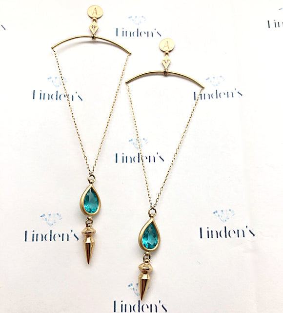 Apatite Chandelier Earrings