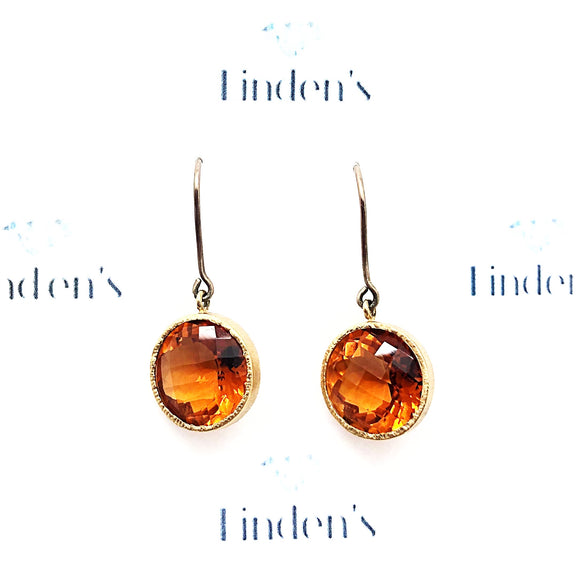 Orange Quartz Earrings