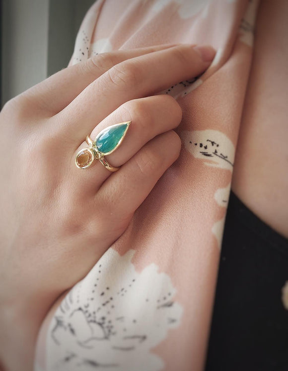 Lucinda the Gem Silica Ring