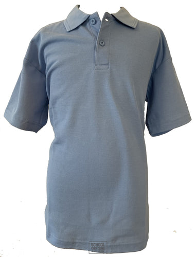 Blue Non-Crested Polo Shirt