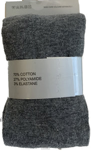 Girls Cotton Tights - Single Pack (Grey)