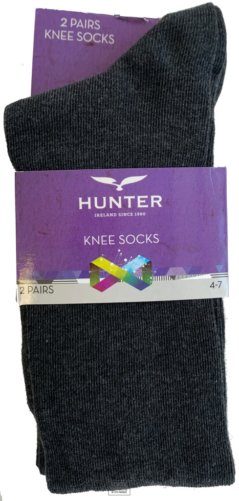Knee Socks - Twin Pack (Grey)