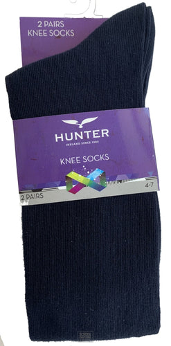 Knee Socks - Twin Pack (Navy)