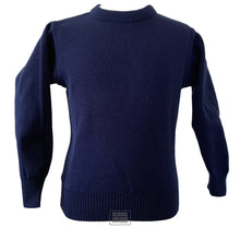 Load image into Gallery viewer, Non-Crested Round Neck Jumper (Navy - Senior Cycle)