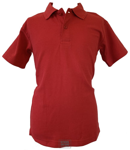 Red Non-Crested Polo Shirt