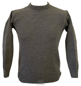 Round Neck Jumper Uncrested (Grey)