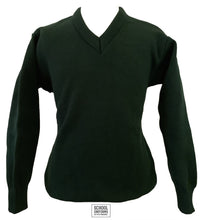 Load image into Gallery viewer, V-Neck Jumper Uncrested (Bottle Green)
