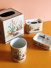 Load image into Gallery viewer, andre richard wood ducks ceramic bath set