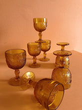 Load image into Gallery viewer, tiara amber wine goblets
