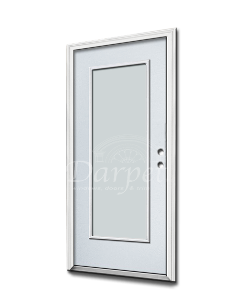 Full Lite Clear Steel Door 6'8""