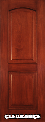 "***CLEARANCE*** 2 Panel Arch Mahogany Interior Door Slab 6'-8"" (80"")"