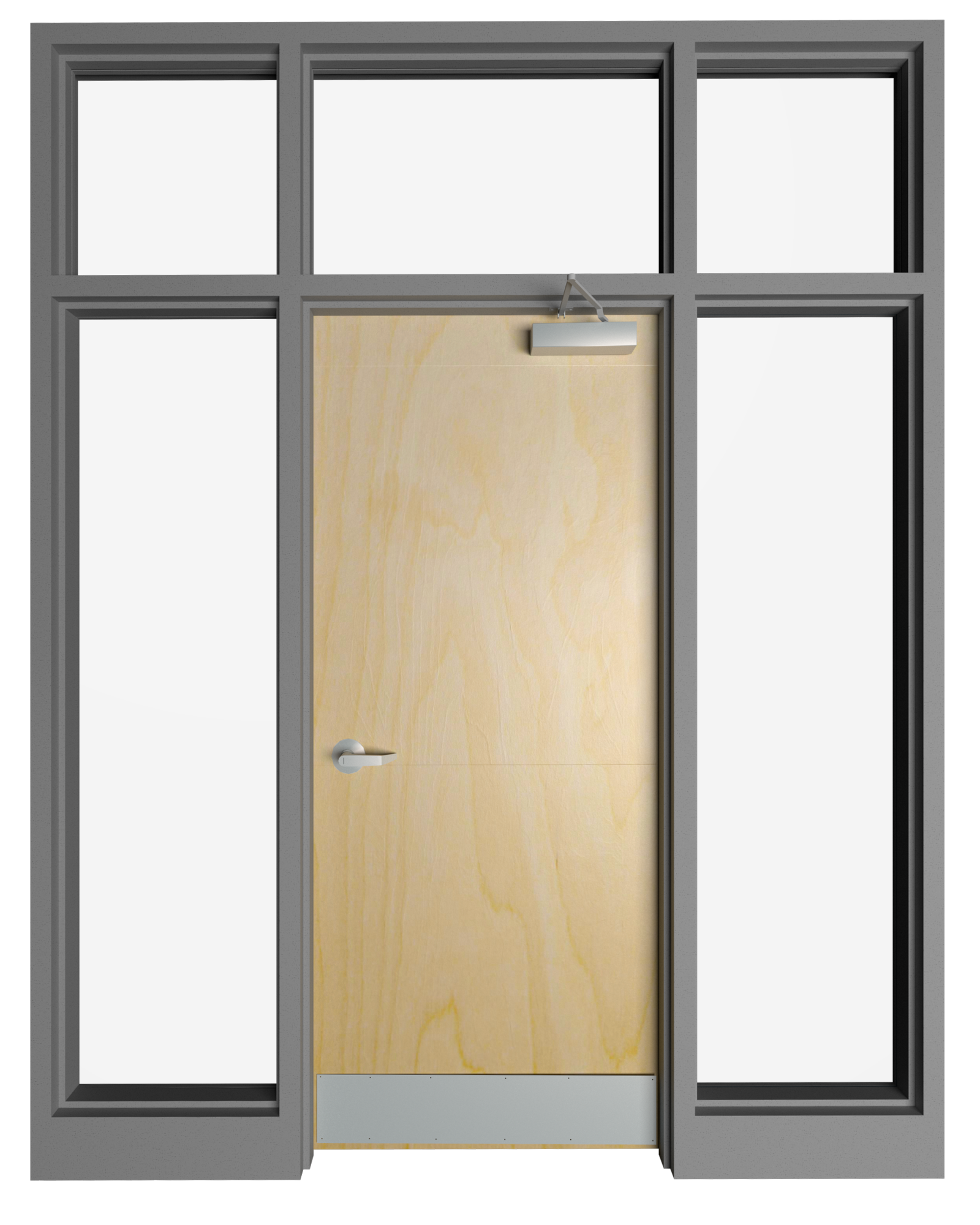 Transom with Double Side Lite Frame - Model#TF2SL