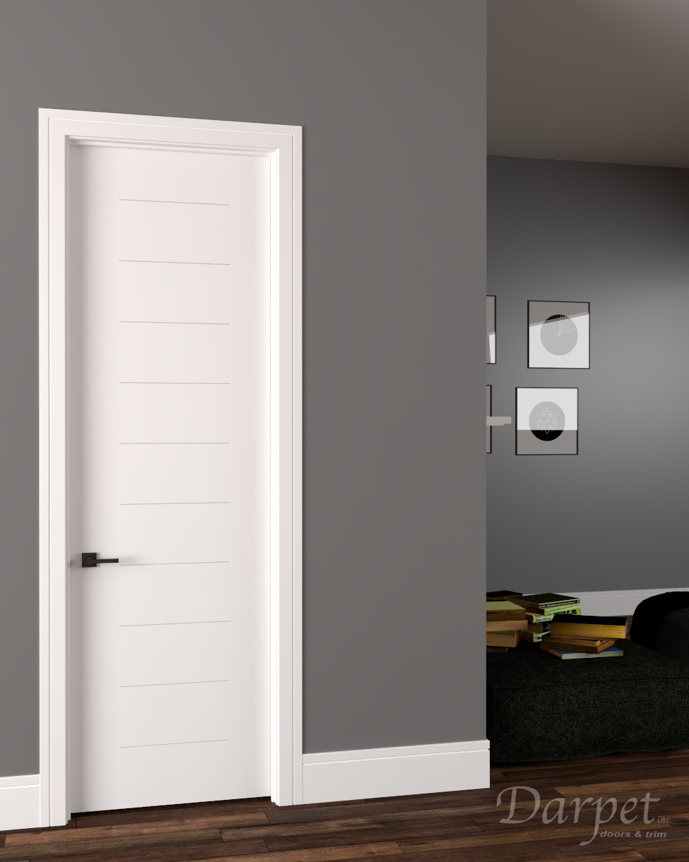 "Legato Primed Groove Interior Door 8'-0"" (96"")"