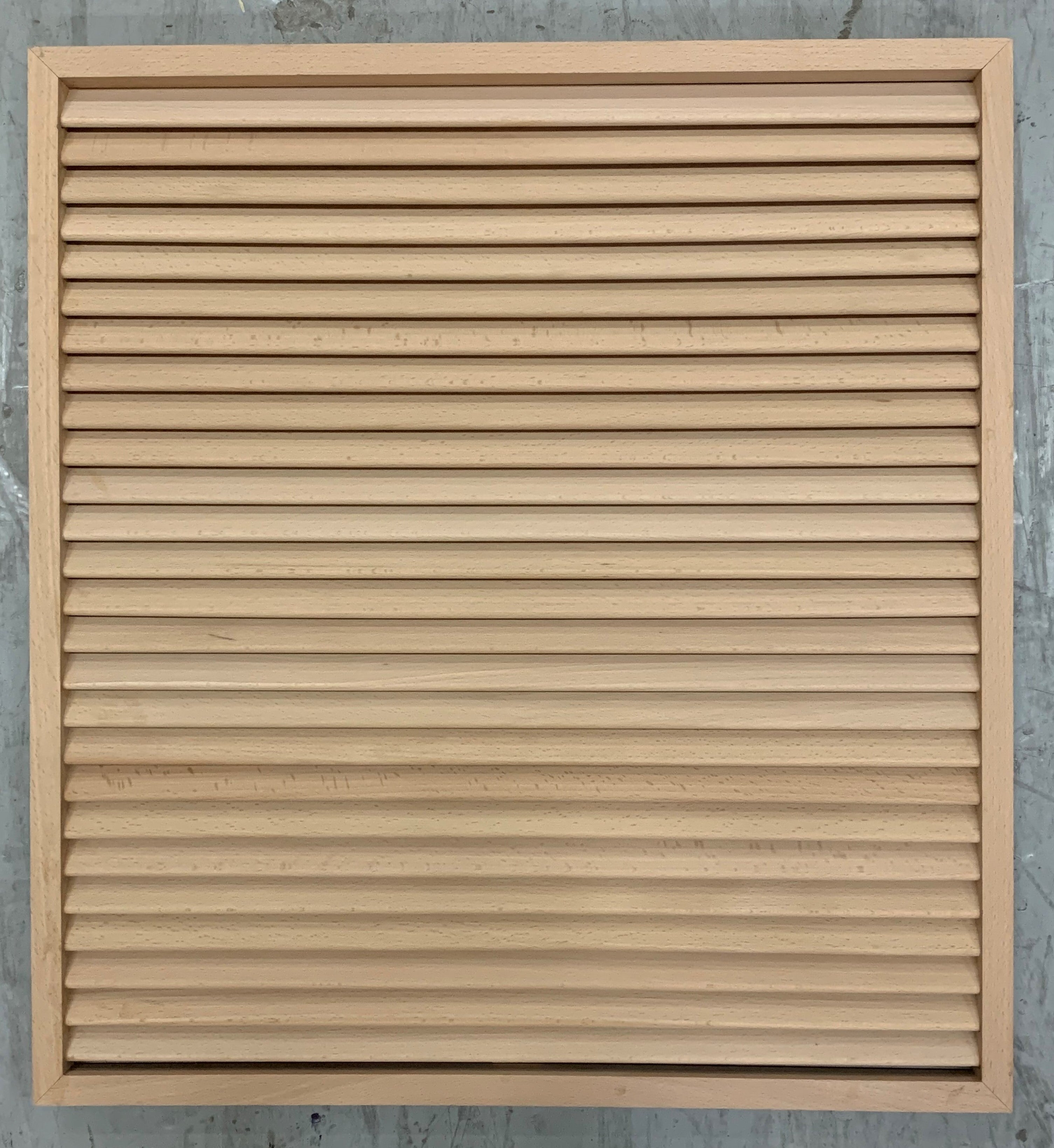 "2 Panel Arch Caiman with Louver Insert Primed 7'-0"" (84"")"