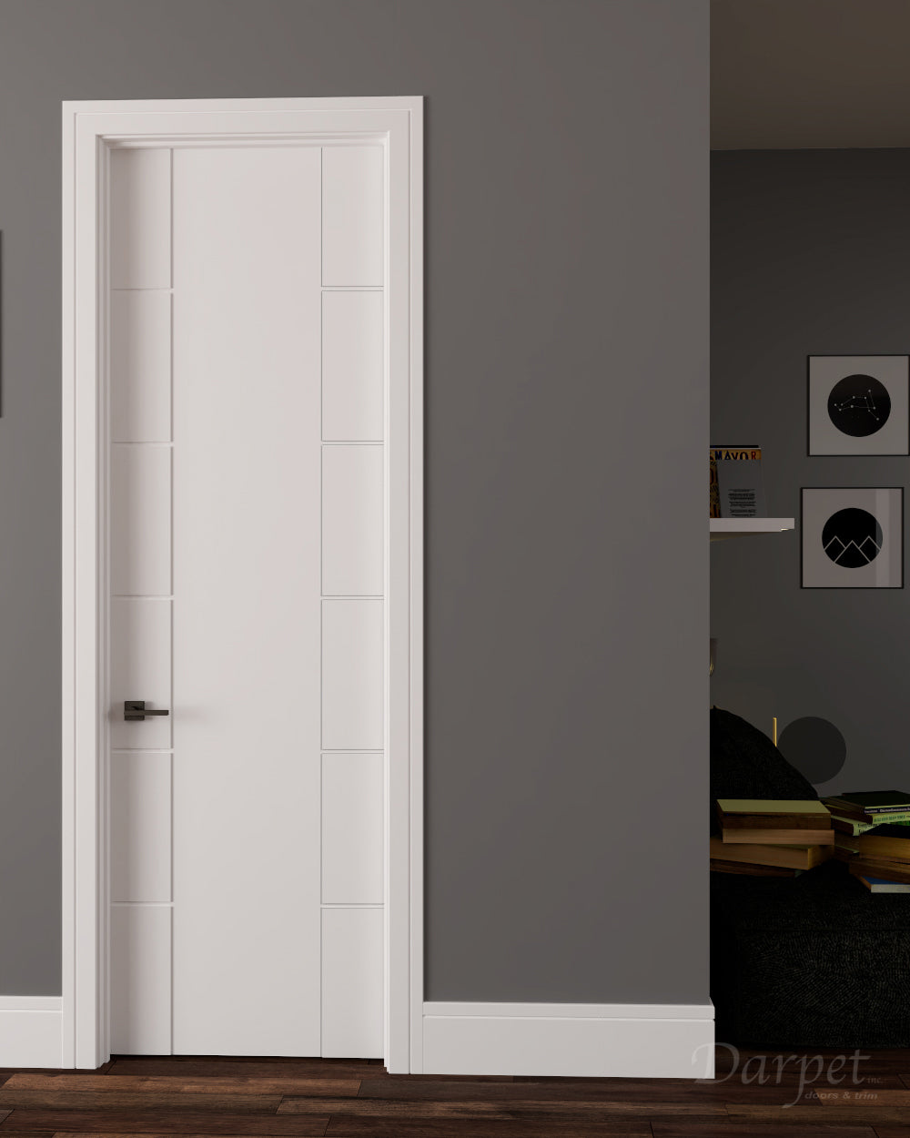 "Netta Primed Carved Interior Door 8'0"" (96"")"
