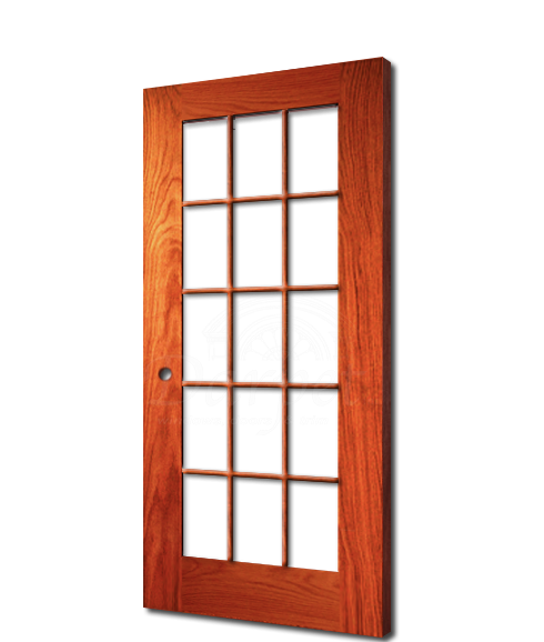 "15 Lite Clear Glass Red Oak 6'-8"" (80"")"