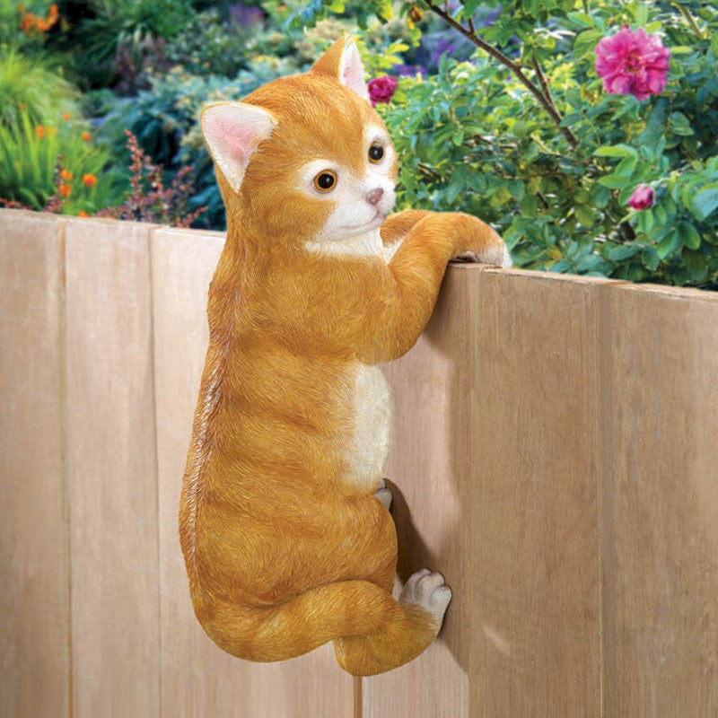 Climbing Kitty Garden Figurine 10016383