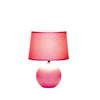 Pink Round Table Lamp