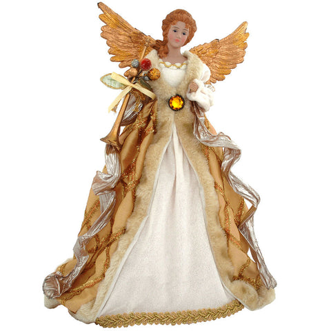 16 Inch Golden Angel Christmas Tree Topper