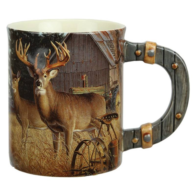 3D Deer On Farm Ceramic Beverage Mug 2431