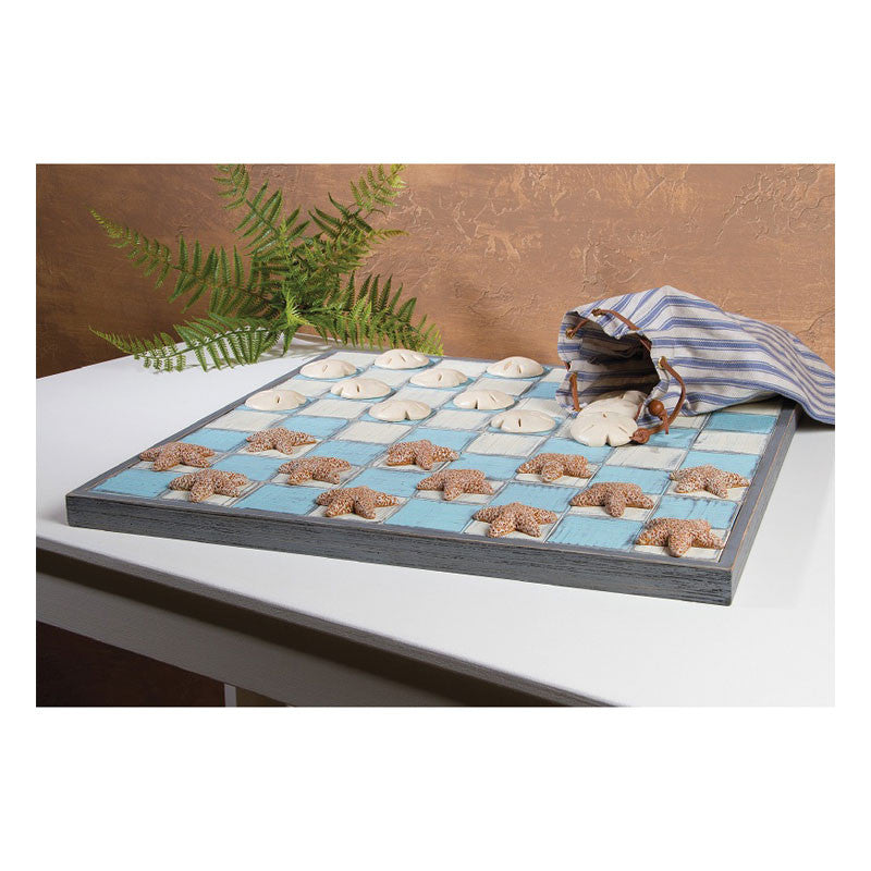 Seaside Checkers Game Board 36926