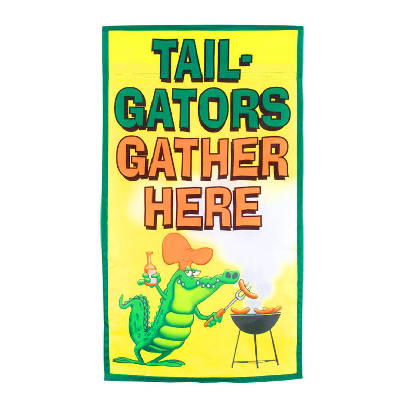 Tail Gators Gather Here Garden Flag 34418
