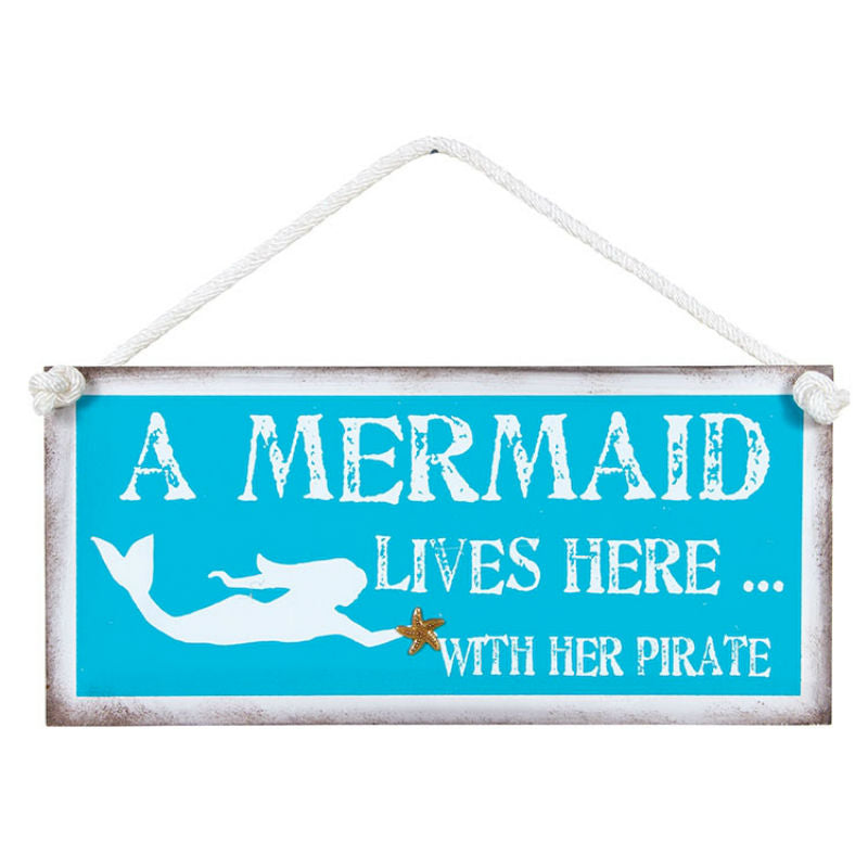A Mermaid And Her Pirate Sign 12696