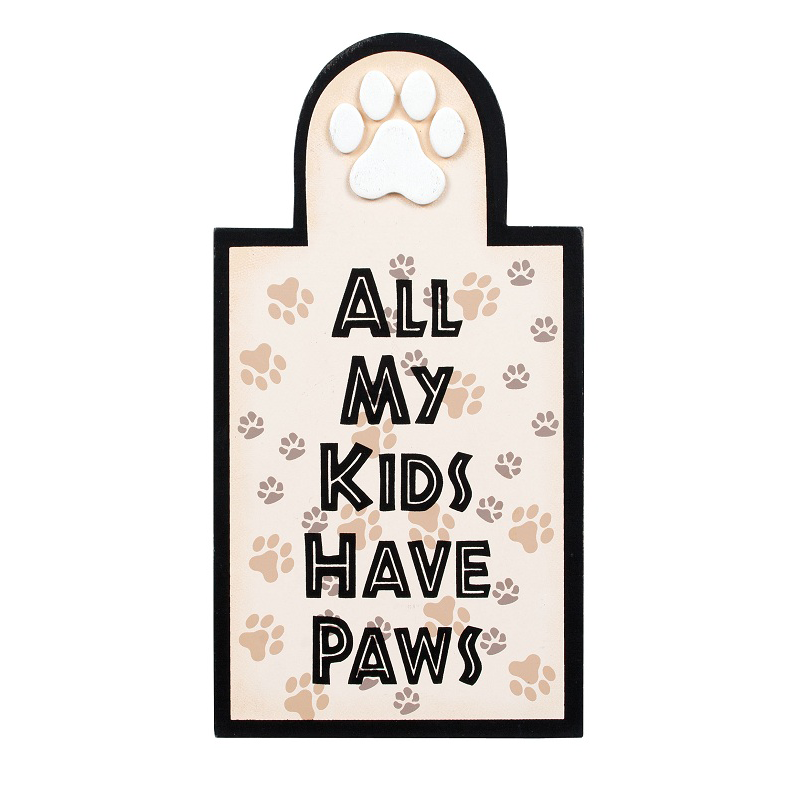 All My Kids Have Paws Plaque 35041