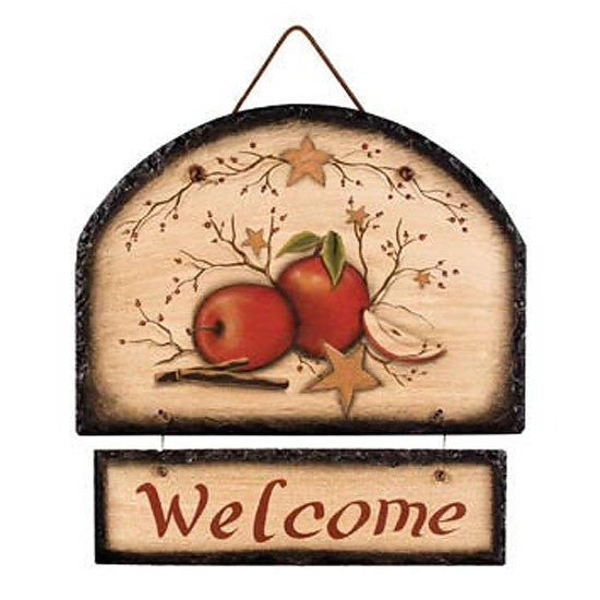 Apple Berry Slate Welcome Plaque 31645