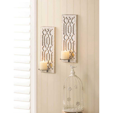 Art Deco Mirrored Wall Sconces