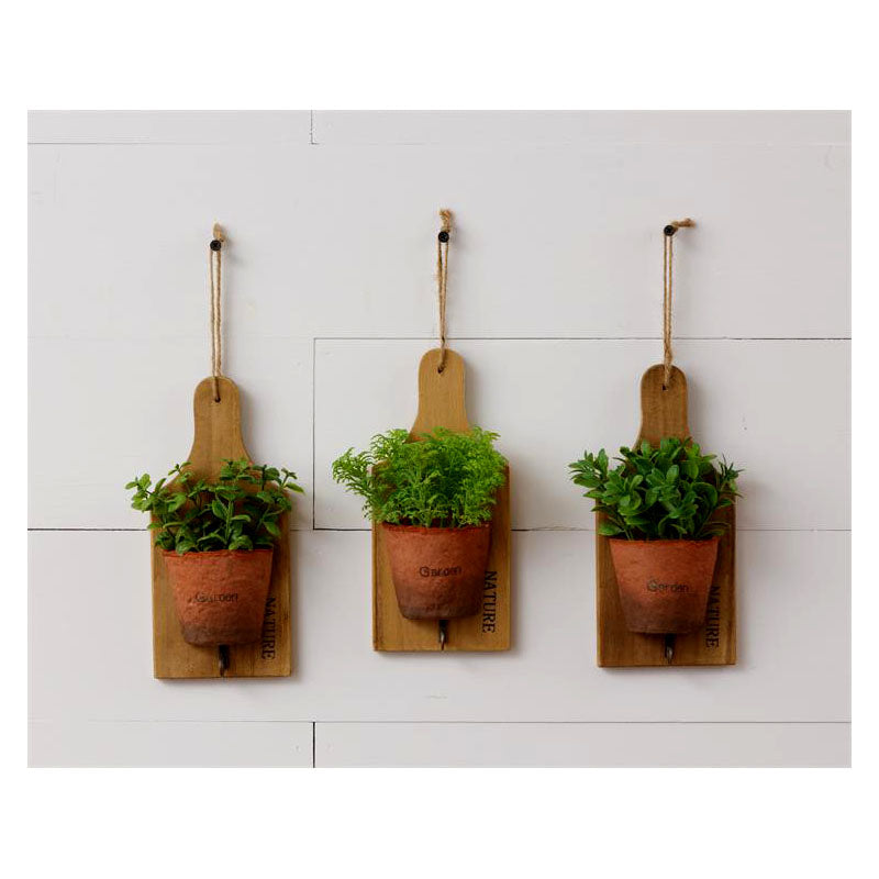 Assorted Herbs Mini Cutting Board Planters 8F6122