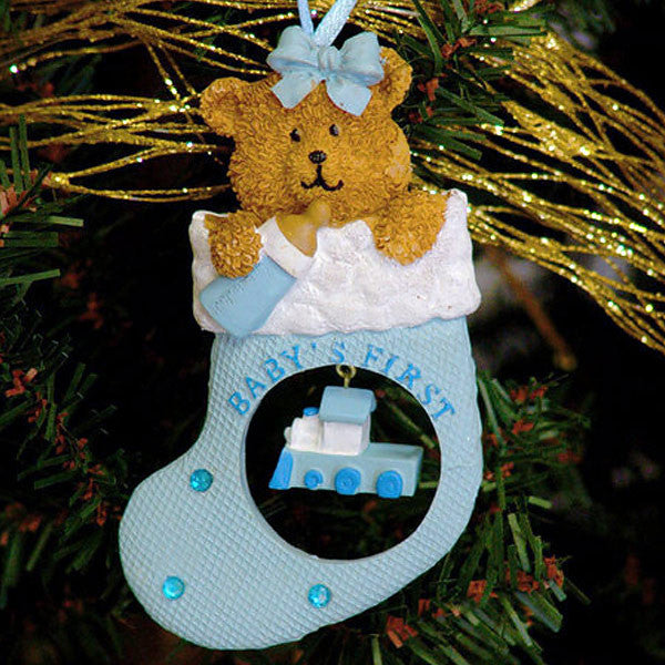 Baby's First Christmas Ornament Blue Stocking 1409510