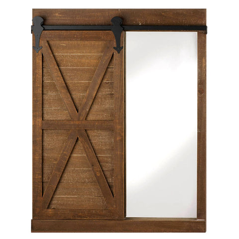 Barn Door Chalkboard and Wall Mirror