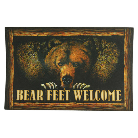 Bear Feet Welcome Door Mat