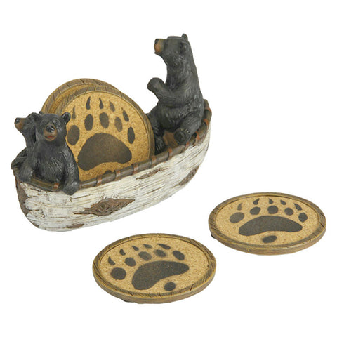 Bears In A Boat Coaster Set