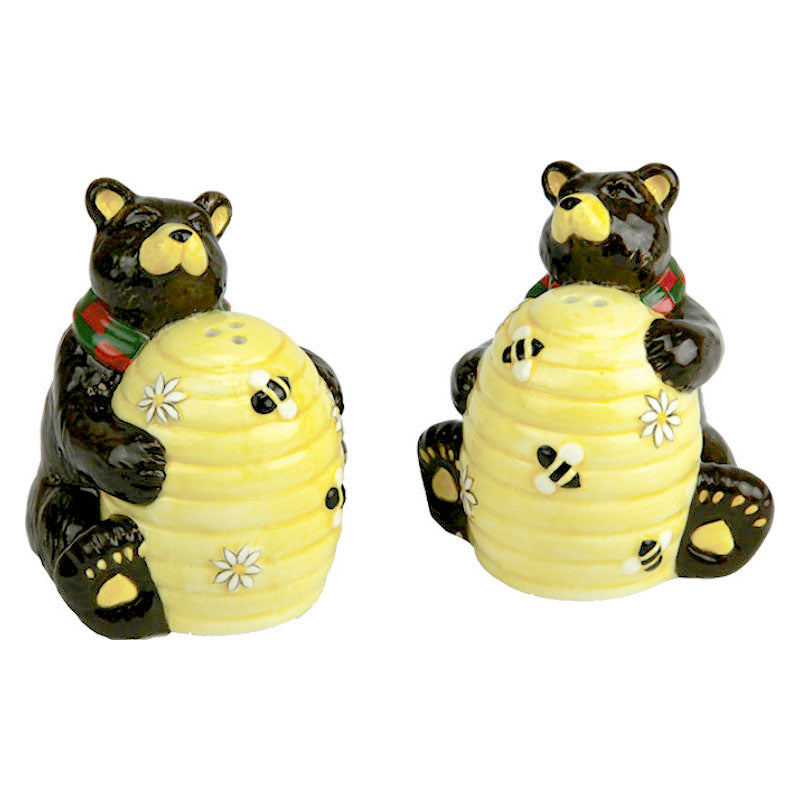 Bee Hive Bears Salt and Pepper Shakers 2055