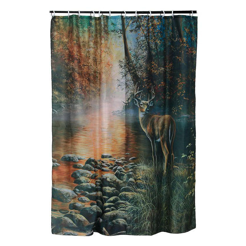 Beside The Still Waters Deer Shower Curtain 755