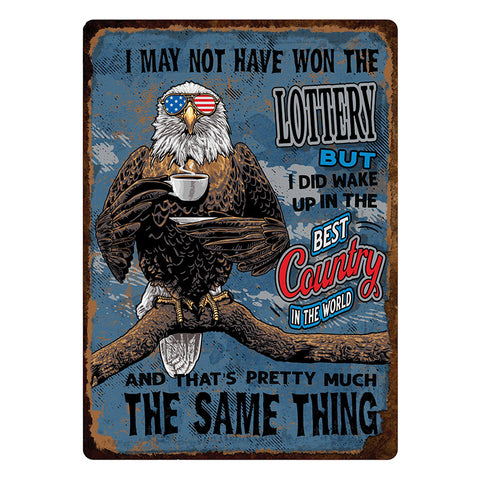 Best Country In The World Patriotic Tin Sign