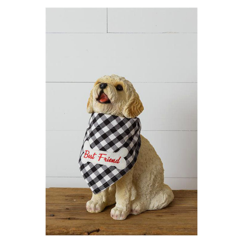 Best Friend Buffalo Plaid Dog Bandanna 8FA1118