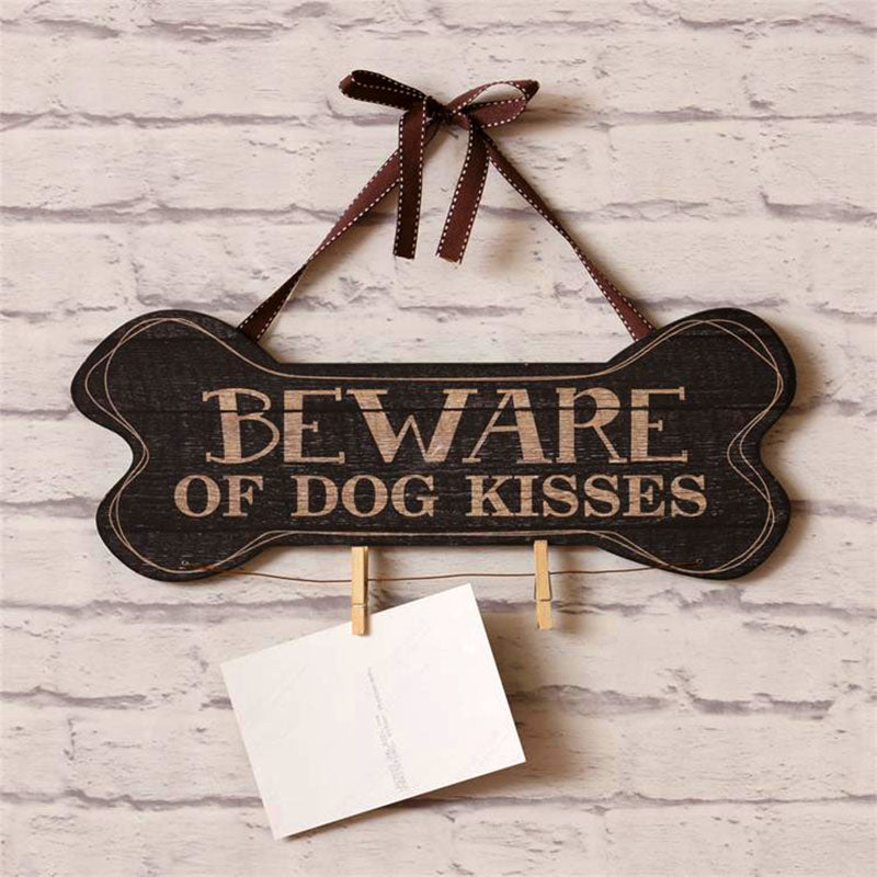 Beware of Dog Kisses Wall Plaque 8WH518