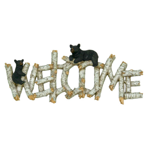 Birch Bears Welcome Plaque