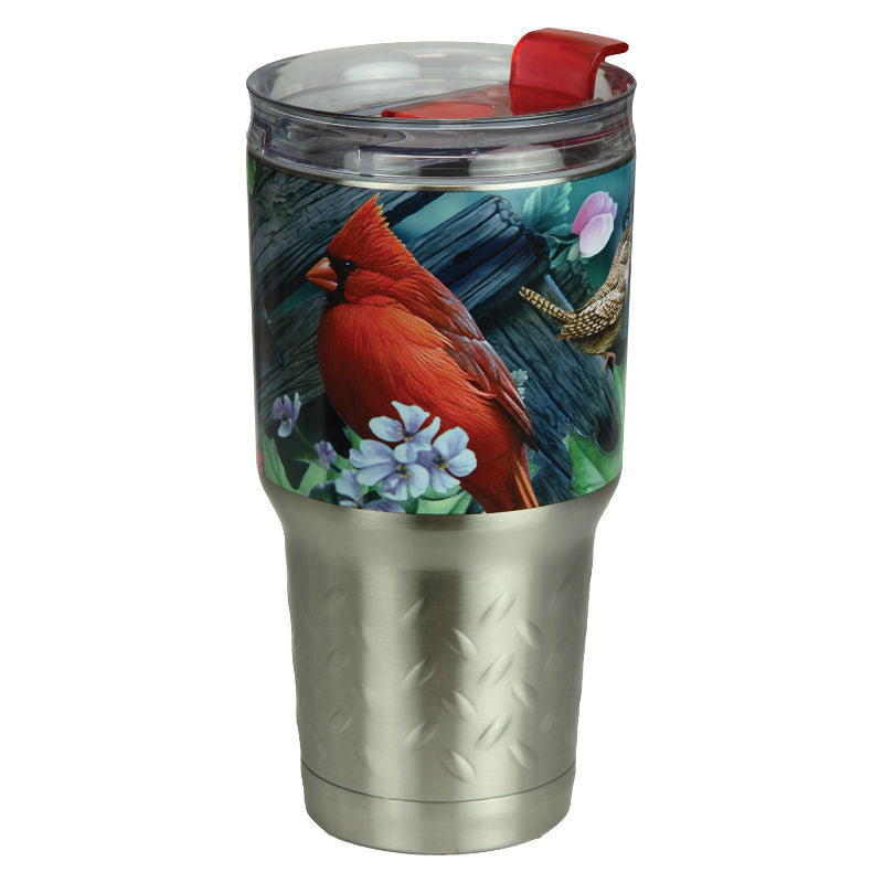 Birds 24 Oz Stainless Steel Beverage Tumbler 2136